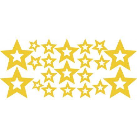 Csillagok, 42 db-os dekormatrica - Dekormatricák Webáruház