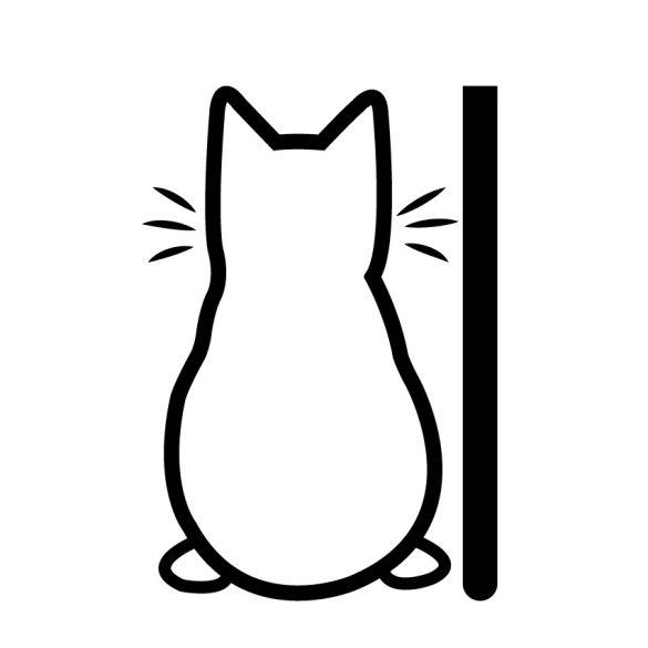 Farkát csóváló cica, hátsó szélvédő matrica a Dekormatricák webáruház autómatricái közül