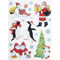 Ajándékozás, csillámos ablakmatrica Karácsonyra - Dekormatricák webáruház