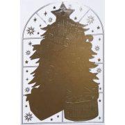 Fenyőfa, karácsonyi tükrös ablakmatrica a Dekormatricák webáruházban
