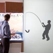 Horgász, falmatrica a Dekormatricák webáruházban 48 színben