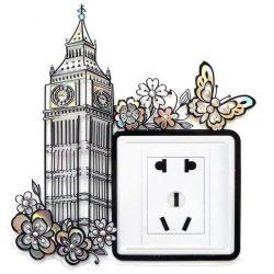 Óratorony, kontúrmatrica villanykapcsoló köré
