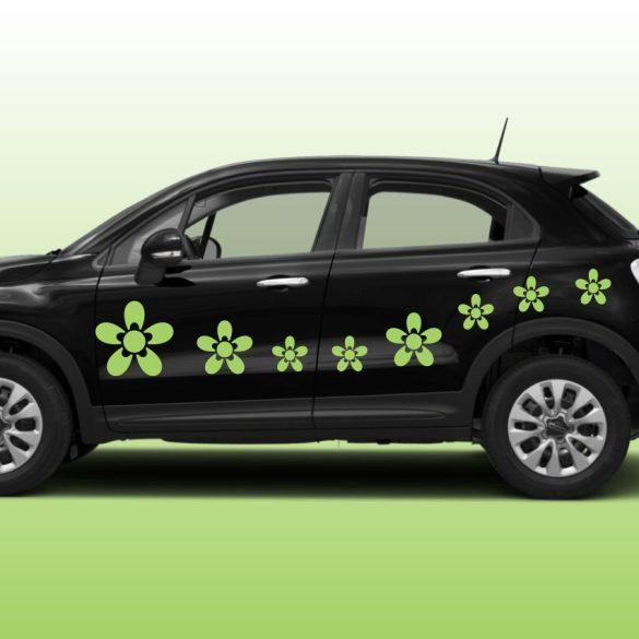 Virág3 autómatrica a Dekormatricák webáruház autómatricái közül