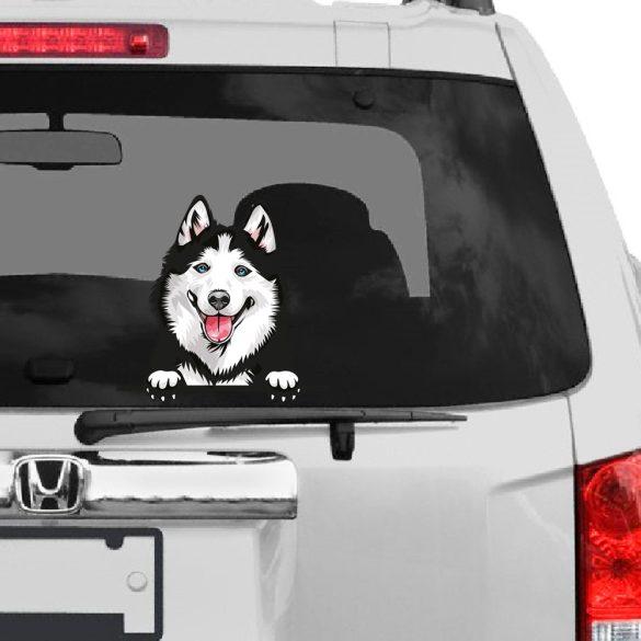 Szibériai Husky rajzos autómatrica a Dekormatricák webáruház matricái közül