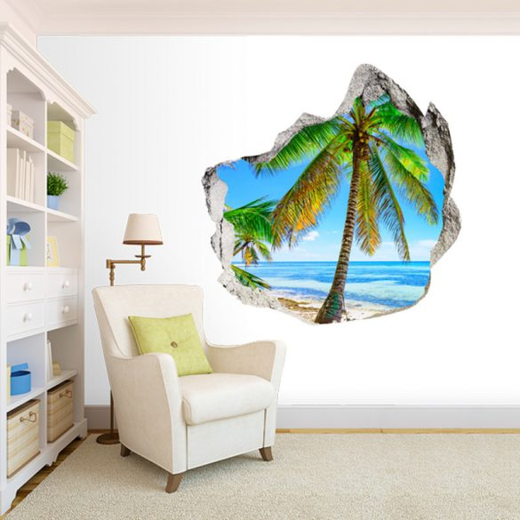 Egy trópusi szigeten, faltörő falmatrica a Dekormatricák Webáruházból