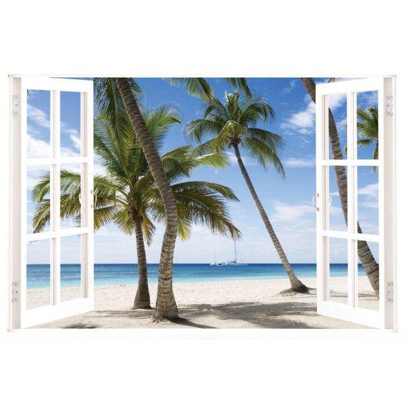 Jamaika ablakos falmatrica a Dekormatricák Webáruházban