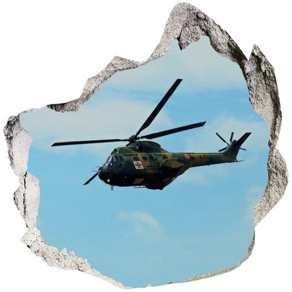 Katonai helikopter, faltörő falmatrica a Dekormatricák Webáruházból