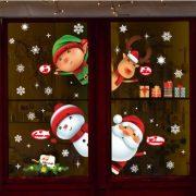 Díszek, nagy karácsonyi dekorációs matrica ablakra vagy kirakatra - Dekormatricák Webáruház