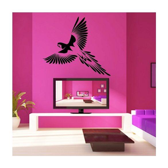Papagáj, faltetoválás a Dekormatricák falmatrica webáruházban