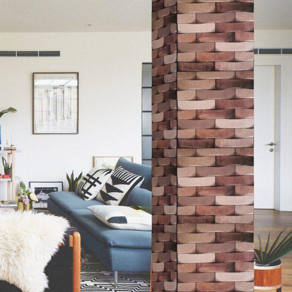 Fa és kőmintás 3D öntapadós falpanel