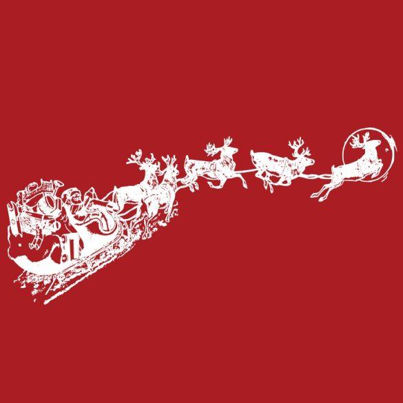 Télapó rénszarvasokkal, karácsonyi matrica kirakatra a Dekormatricák webáruházban