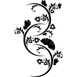 Legyezővirág pillangókkal