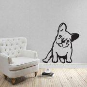 Francia bulldog, falmatrica a Dekormatricák falmatrica webáruházban