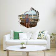 Egyedi, kitört falas falmatrica saját képből a Dekormatricák Webáruházból