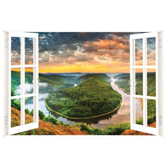 Saarschleife ablak matrica a Dekormatricák Webáruházban