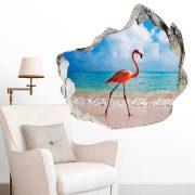 Sétáló flamingó, falmatrica a Dekormatricák Webáruházból
