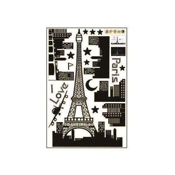 I love glow Paris éjjel világító falmatrica a Dekormatricák webáruház termékei közül