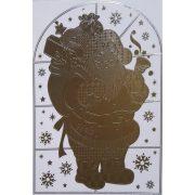 Mikulás, tükrös ablakmatrica karácsonyra a Dekormatricák webáruházban