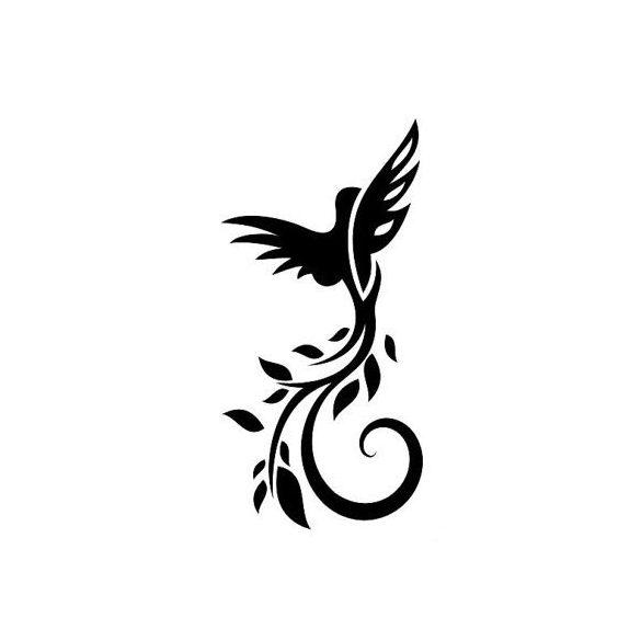 Madár nonfiguratív mintával, faltetoválás a Dekormatricák Falmatrica Webáruházban