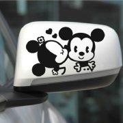 Szerelmes egérkék, autómatrica visszapillantóra a Dekormatricák webáruház autómatricái közül