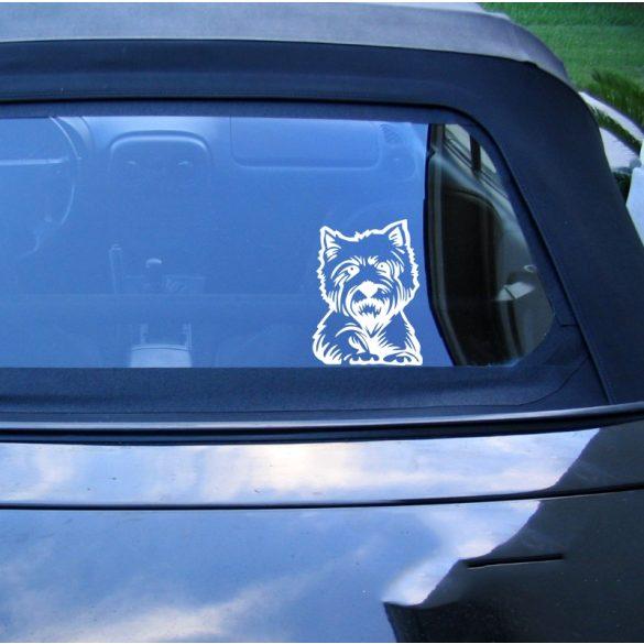Westie autómatrica a Dekormatricák webáruház matricái közül