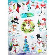 Snow, csillámos ablakmatrica Karácsonyra - Dekormatricák webáruház