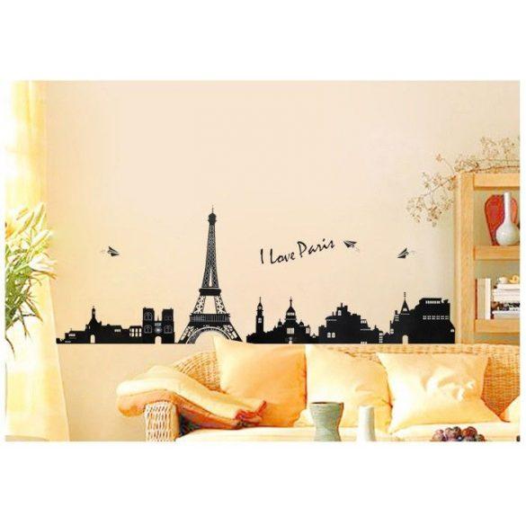 I love Paris, fekete-fehér falmatrica