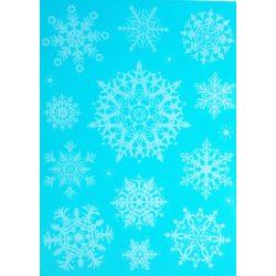 Hópelyhecskék, csillámos ablakmatrica karácsonyra a Dekormatricák webáruházban