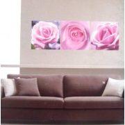 Rózsák, 3 részes falikép, falmatrica szett