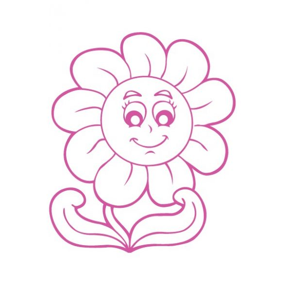 Mosolygós virág, autómatrica a Dekormatricák webáruház matricái közül