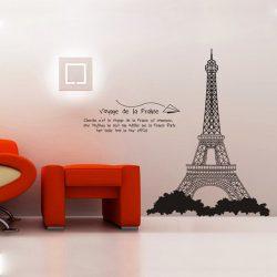 Eiffel torony falmatrica, fekete