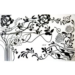 Nonfiguratív virágok, laptop tetoválás