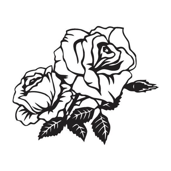 Két rózsa, autómatrica a Dekormatricák webáruház autómatricái közül