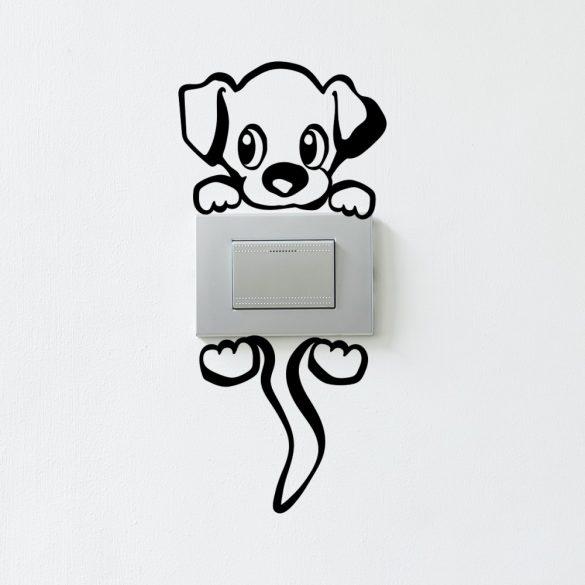 Cicás villanykapcsoló matrica