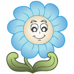 Kék virágok, 3D falmatrica a Dekormatricák Webáruházban