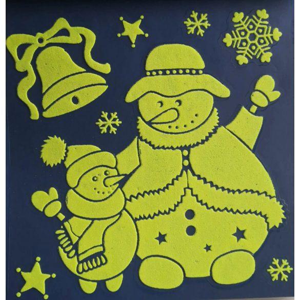 Hóemberek, éjjel világító karácsonyi ablakmatrica a Dekormatricák webáruházban