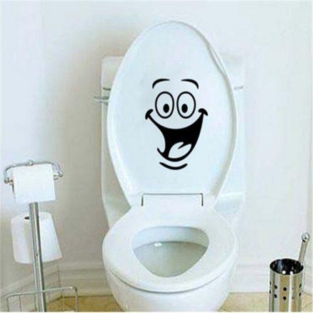 Mosoly, toalett díszítő matrica