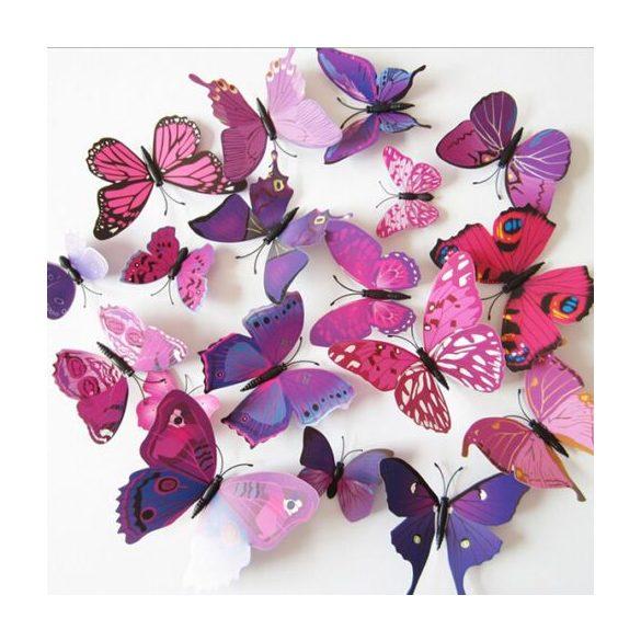 3D pillangók vegyes színben