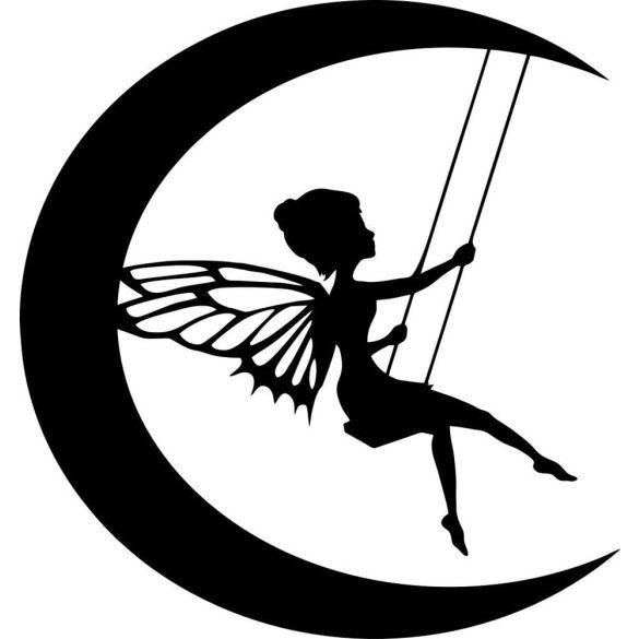 Holdon hintázó tündér, kedves falmatrica a Dekormatricák Falmatrica Webáruházban