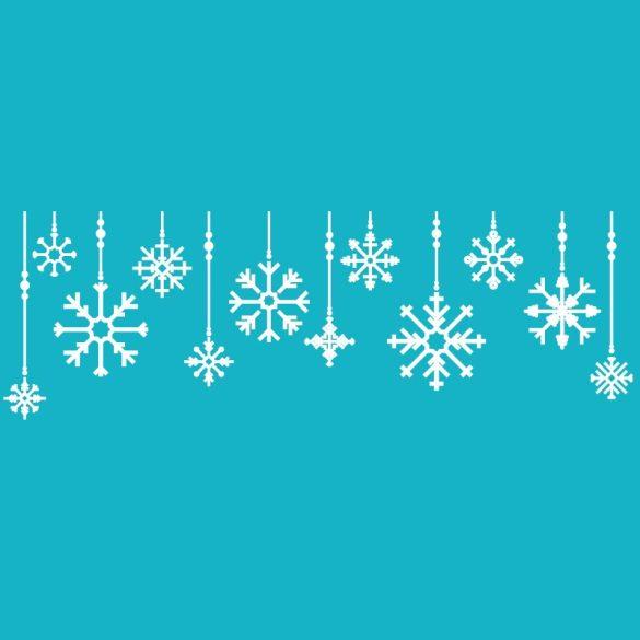 Karácsonyi minták, kirakatmatrica a Dekormatricák Webáruházban