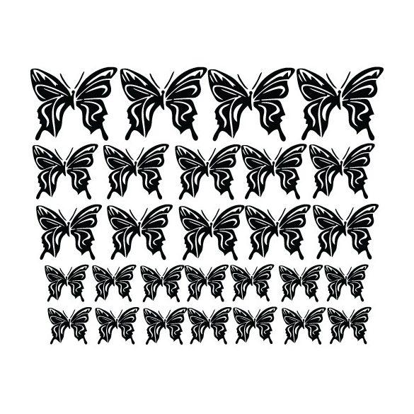Pillangók, autómatrica a Dekormatricák Webáruház autómatricái közül