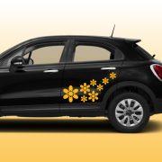 Virág5 autómatrica a Dekormatricák webáruház autómatricái közül