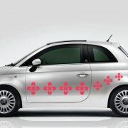 Virág2 autómatrica a Dekormatricák webáruház autómatricái közül