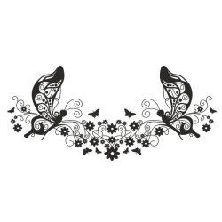 Pillangók és virágok, dekormatrica