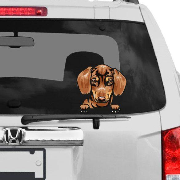 Tacskó 1 rajzos autómatrica a Dekormatricák webáruház matricái közül
