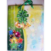 Zöld, csillámos karácsonyi ajándéktáska, L méret a Dekormatricák webáruháztól