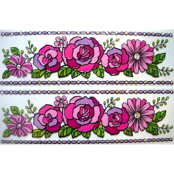 Rózsák, bordűr kontúrmatrica