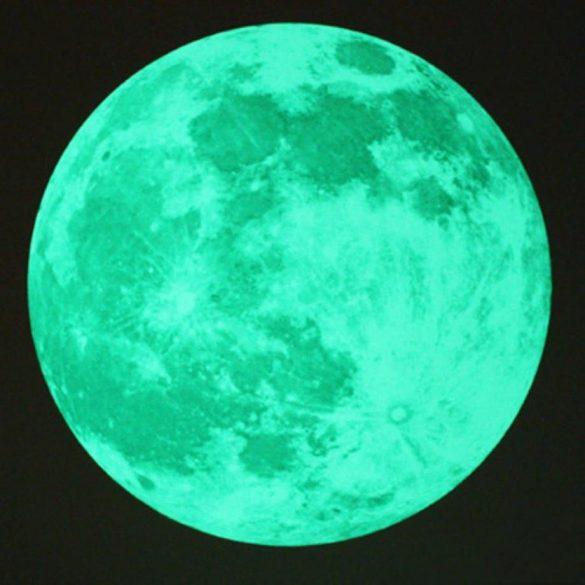 Hold, éjjel világító falmatrica
