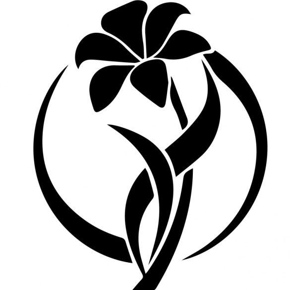 Nonfiguratív liliom, virágos falmatrica a Dekormatricák Webáruház kínálatában