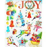 Joy, csillámos karácsonyi ablakmatrica a Dekormatricák webáruházban
